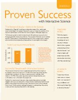Proven Success with Interactive Science Brochure