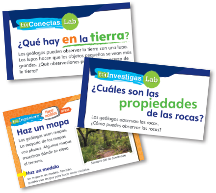 uConnect, uInvestigate, uEngineer from K-5 Spanish brochure