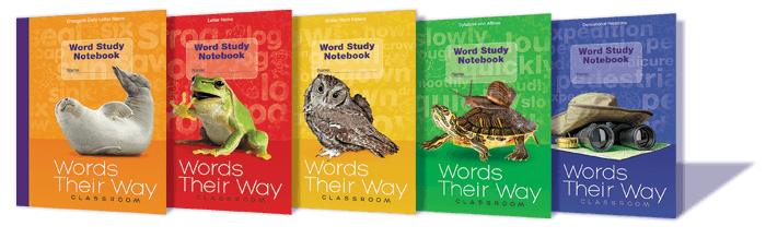 Array of Words Their Way Classroom book covers