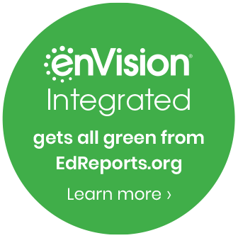 enVision Integrated get all green from EdReports.org