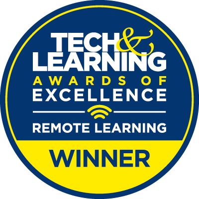 Tech and learning awards of excellence remote learning winner