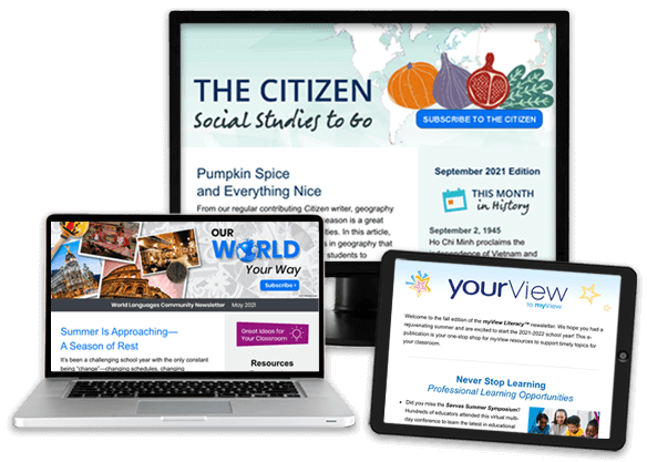 The Citizen Newsletter: Social Studies Delivered, The World Language Newsletter, and Literacy News for Grades K-5
