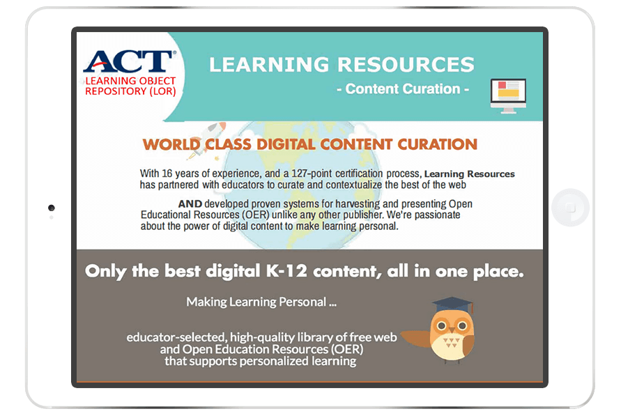 Mosaic™ Digital Learning Library by ACT®.