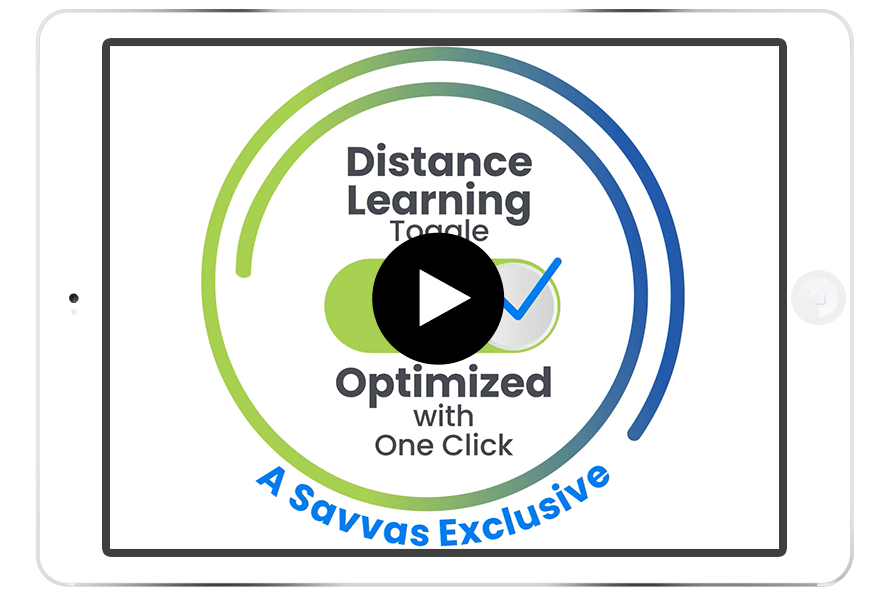 Flip the distance learning toggle