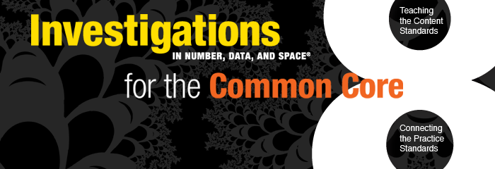 Investigations in Number, Data, and Space for the Common Core for California