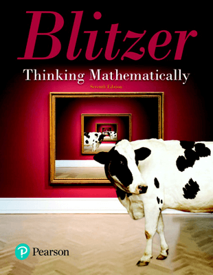 Blitzer, Thinking Mathematically 7th edition ©2019